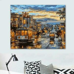 Fashion Painting DIY Paint By Number Kit Digital Oil Paintings Art Home H9C7