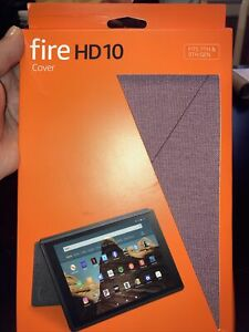Amazon Fire HD 10 Tablet Fabric Cover w/Stand for 7th & 9th Generation - Plum