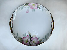 Vintage Noritake Porcelain Floral Cake Cookie Plate Cherry Blossom 1921-24