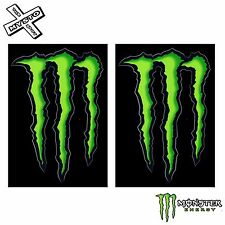 "2x MONSTER ENERGY 4"" STICKERS GREEN CLAW 100% ORIGINAL DECAL NEW FREE UK SHIP"