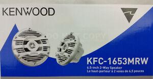 """Kenwood KFC-1653MRW White 300 Watts 6-1/2"""" 2-Way Marine Boat Audio Speakers 6.5"""""""