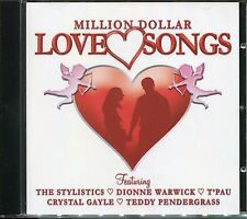 MILLION DOLLAR LOVE SONGS CD WITH THE STYLISTICS, DIONNE WARWICK, T'PAU & MORE