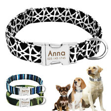 Personalized Nylon Collar for Dogs Released Buckle Free Engraved Pet ID Tags