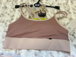 NEW! M&S Active Marks & Spencer UK8 10 medium rose pink medium impact sports bra