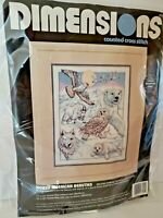 Dimensions Counted Cross Stitch North American Beauties Kit #3758 Seal Wolf Owl