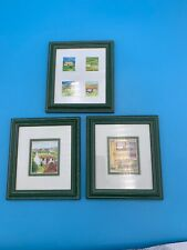 """SET 3 6"""" X 5"""" MINI PUBS OF IRELAND COUNTRY COLLECTION MINI GALLERY FRAMED ART"""
