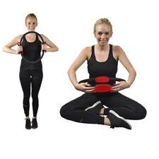 Resistance Pilates Ring Double Handled Exercise Wheel Yoga Gym Fitness Circle