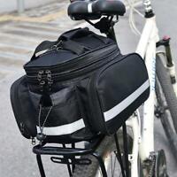 Bike Rear Rack Bag Cycling Saddle Waterproof Seat Pouch Pannier Storage New R9N4