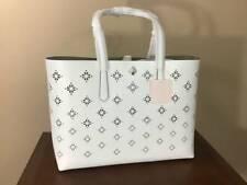 Kate Spade Molly Large Perforated Leather Tote Bag Optic White PXRUA357