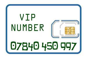 VIP gold memorable EASY NUMBER sim card 07840 450 997 Tesco Mobile