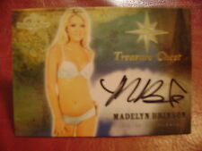 2015 Benchwarmer Treasure Chest Madelyn Brinson BASE AUTO GOLD PLAYMATE