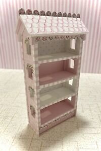 Pink Townhouse BOOKCASE Miniature Lane 1:12 Dollhouse Furniture Hand-Painted