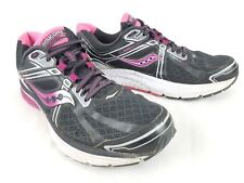 Saucony Womens Gray Pink Black Everun Omni 15 Running Shoes Size 11.5 US / 44 EU