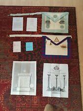 Masonic Paraphernalia inc. 2 Aprons & Paper