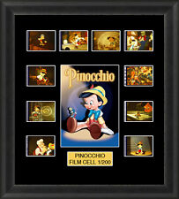 Disney Pinocchio 1940 Framed 35mm Film Cell Memorabilia Filmcells Movie Cell