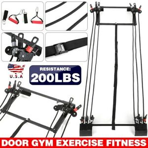 Tower 200LBS Door Gym Exercise Fitness Full Body Gym tool set USA