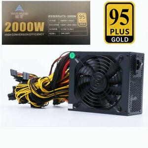 Modular Mining Power Supply 2000W PSU for  8 Graphics GPU ETH Rig Ethereum Miner