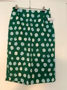 Max Mara Weekend green printed pencil skirt BNWT size 8