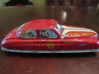 VINTAGE MARX TIN FRICTION FIRE CHIEF CAR #1 - EXCELLENT CONDITION