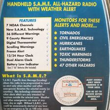 MIDLAND ALL-HAZARD WEATHER RADIO0-HANDHELD (YELLOW)-7 NOAA CHANNELS