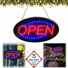 Animated Motion Running Led Business Open Sign +On/Off Switch / Bright Light New