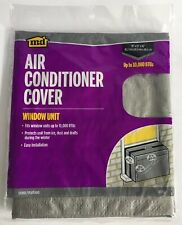 """Air Conditioner Cover Window Unit Silver MD 03392 18"""" X 27"""" X 16"""" NEW Ice Draft"""