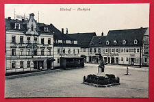AK WILSDRUFF in Sa. 1918 Marktplatz mit Hotel weisser Adler und Reichelt  ( 7589