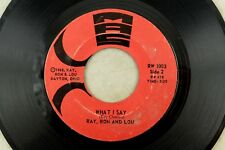 Ray Charles, Ron & Lou - Rare Ohio Soul 45 RPM - What I Say / This Is Our Day B1