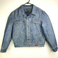 Guess USA Vintage 90s Denim Jean Jacket Medium Wash Shiny Trucker Men's Size M