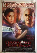 Crouching Tiger Hidden Dragon 2000 One Sheet Movie Poster Academy Award Winner