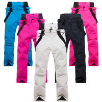 Thick Men Women Waterproof Snow Pants Sport Ski Overalls Snowboard Warm Outdoors