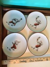 Fitz and Floyd Christmas Holiday Santa dessert plate lot 1980