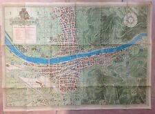 GERMANY PLAN OF HEIDELBERG 1948 20e CENTURY LARGE ORIGINAL PLAN