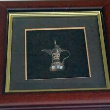 Framed Arabian Sterling Silver Gift...Tea pot pitcher from Arabia .925...