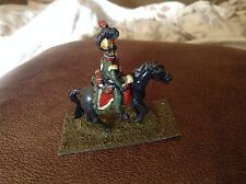 """Minature Metal Or Lead Model French  Soldier Horse Hand Painted 1.25"""" 32mm"""