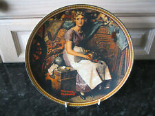 EDWIN KNOWLES COLLECTORS PLATE - NORMAN ROCKWELL 'DREAMING IN THE ATTIC'