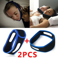 2 PCS Snore Stop Belt Anti Snoring Cpap Chin Strap Sleep Apnea Jaw Solution TMJ