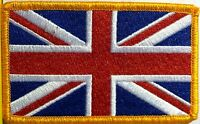 BRITISH Flag Embroidered Patch Union Jack England UK Great Britain Iron-On Blue