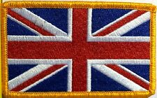 BRITISH Flag Patch With VELCRO® Brand Fastener England UK Great Britain