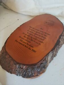 Wooden dad sign with bark on the sides - Made in the USA