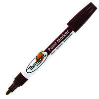 Thornton's Art Supply Oil-Based Craft Art Paint Markers, Medium Point, Brown Ink