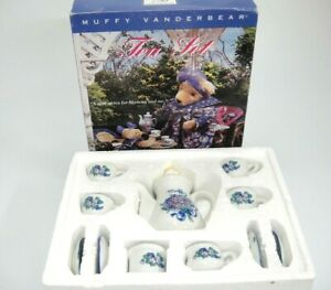 Muffy Vanderbear Mommy and Me Porcelain Toy Tea Set New in Box