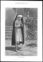 "1878 - FINE ART PRINT ""AN INDIAN NIGHT WATCHMAN"" (180)"