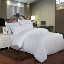 100% Cotton Satin Stripe Quilt Duvet Cover Bedding Set Pillowcase Hotel Bed Line