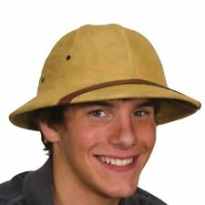 ADULT BRITISH PITH HELMET SAFARI JUNGLE EXPLORER HUNTER AFRICAN COSTUME HAT TAN