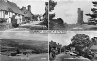 POSTCARD  SURREY - BEAUTY SPOTS - MULTI VIEW - RP