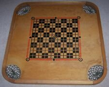 "1943 VINTAGE CARROM COMBINATION GAME BOARD PLAYBOY MODEL STYLE ""YP"" & GAME PARTS"