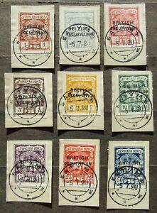 Batum 1920 Regular issue ovptd British occupation compl.set, Mi #45-53 used