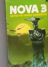 NOVA 3 - edited by Harry Harrison  1975 Original science fiction stories p/b gc