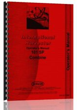 Operators Manual International Harvester 101 Combine